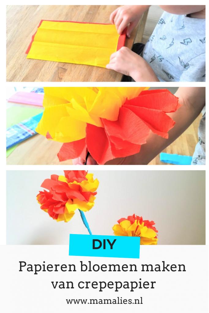 Papieren bloemen maken pin voor pinterest