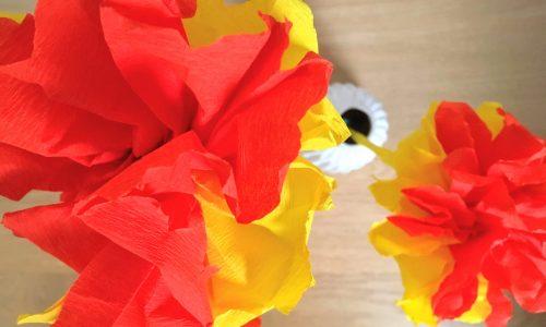 diy papieren bloemen van crêpepapier maken
