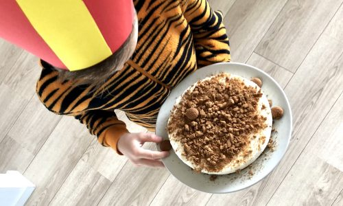 Sinterklaas no-bake kruidnoten cheesecake