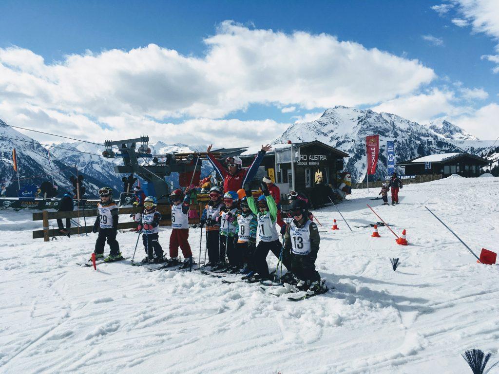 Ski race met de skiklas in mayrhofen