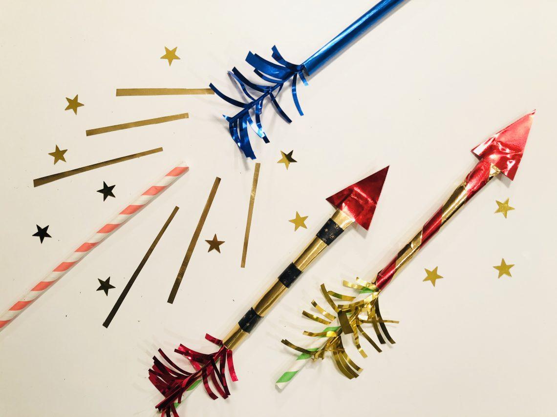 vuurpijl raketten die echt kunnen vliegen. Blaas ze weg door het rietje en zoeffff.