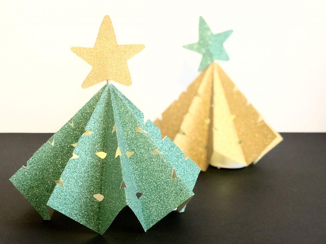 gevouwen lampje voor kerst. Kerst diy en knutselwerkje