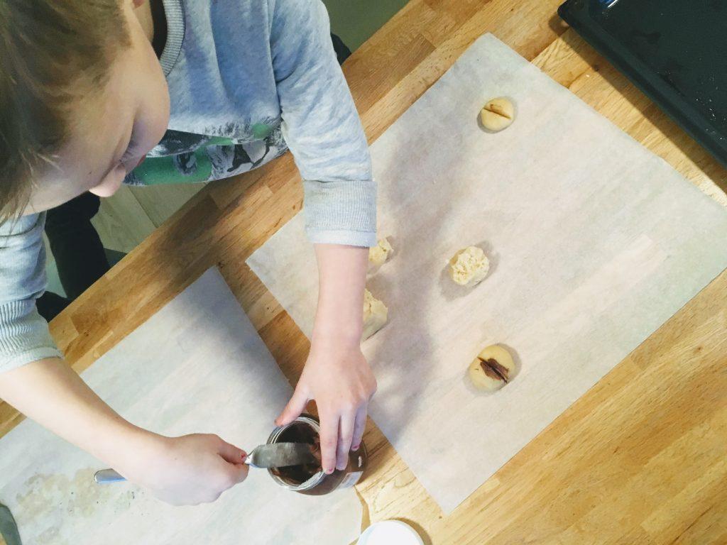 billenkoekjes bakken wij met nutella.