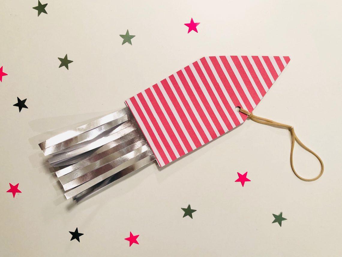 Echt vliegende raket met elastiek