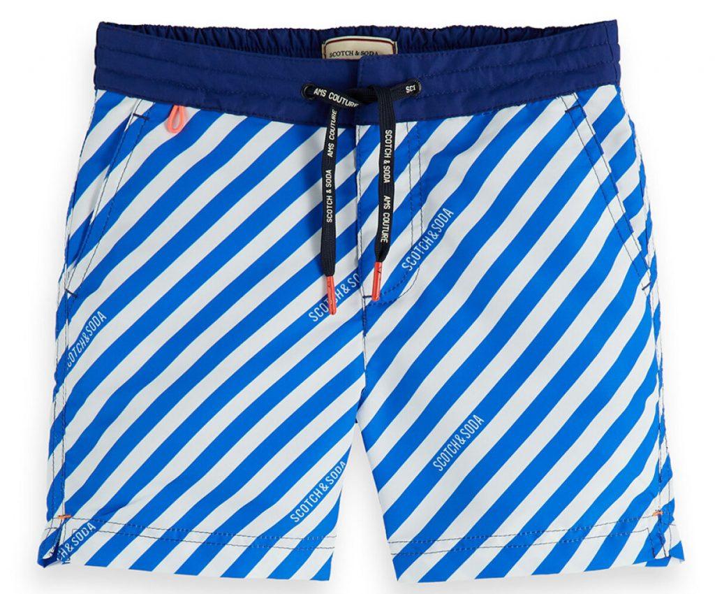 Scotch soda zwembroek met blauwe streepjes