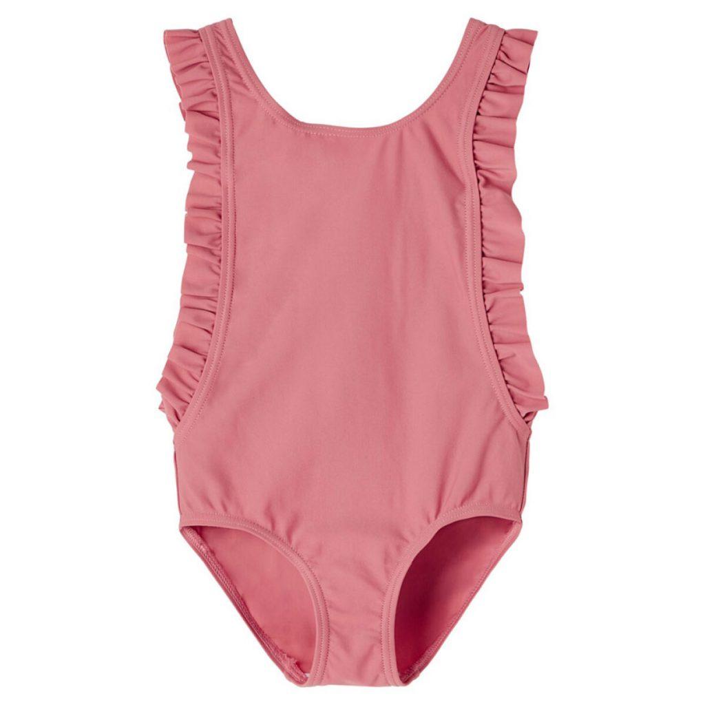 Volant meisjes badpak roze