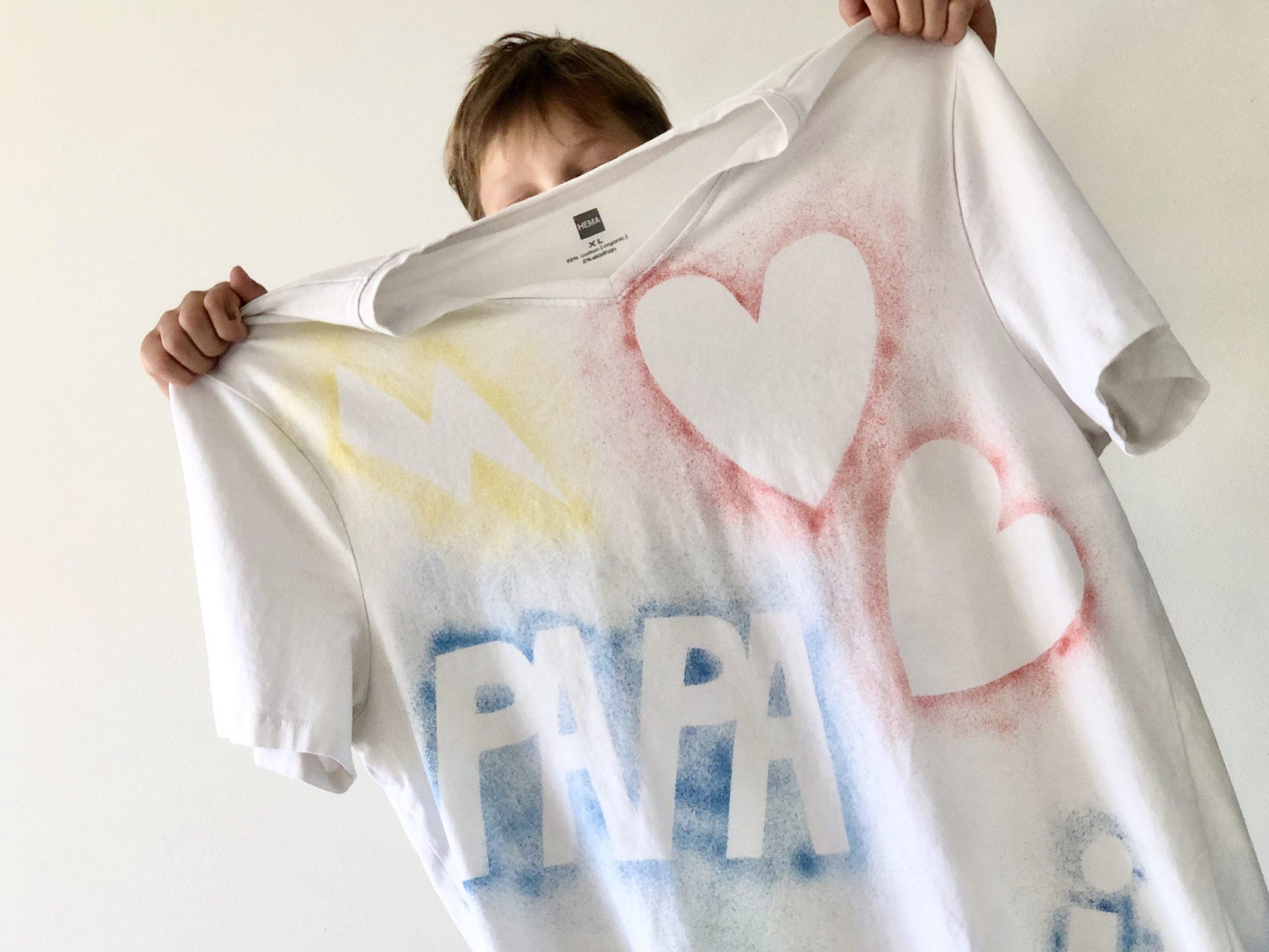 Vaderdag T-shirt als cadeau zelf maken
