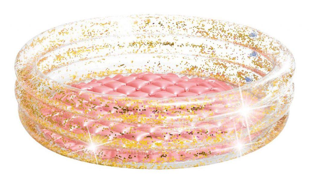 Glitter zwembad met roze bodem