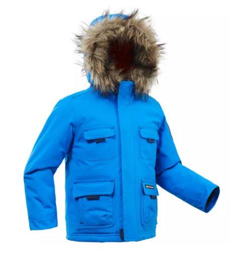 Goedkope decathlon winterjas voor een jongen