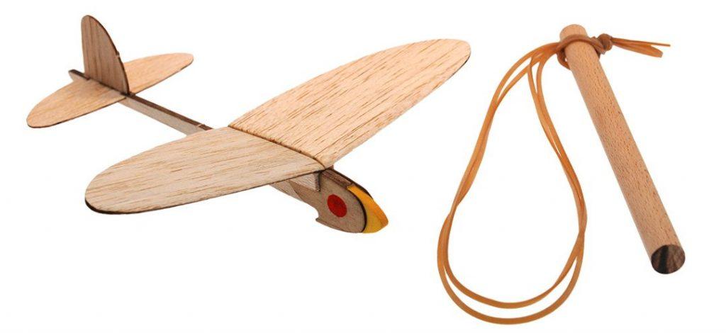 Bouwpakket voor vliegtuig katapult van hout