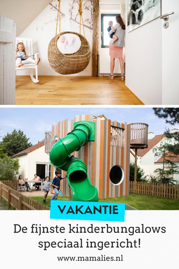 Kinderbungalows en babybungalows op vakantieparken