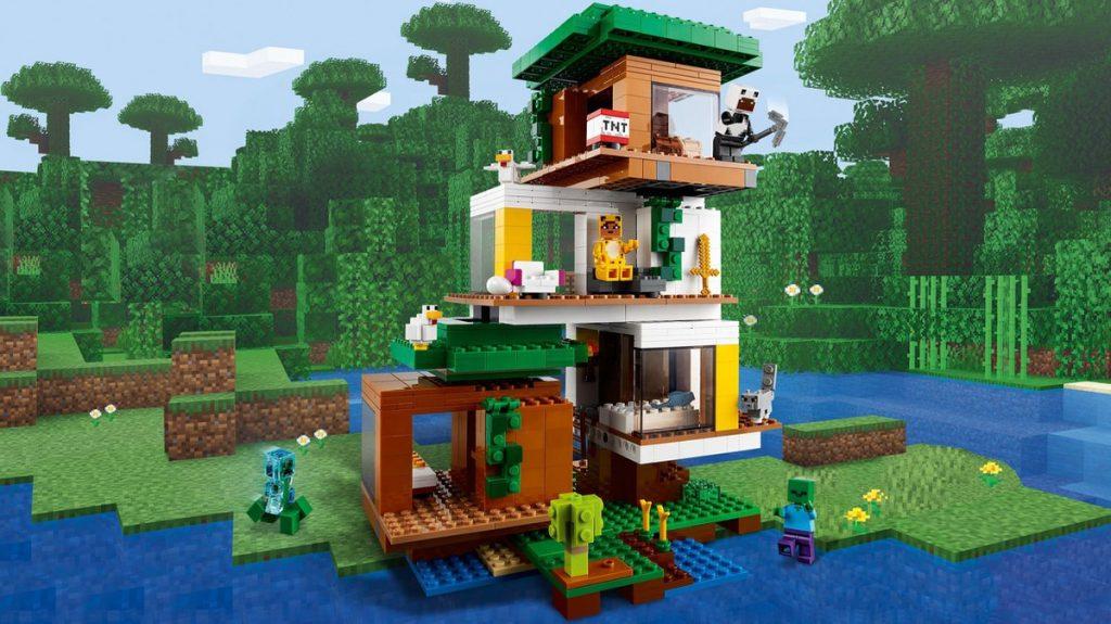 Lego bouwset minecraft boomhut