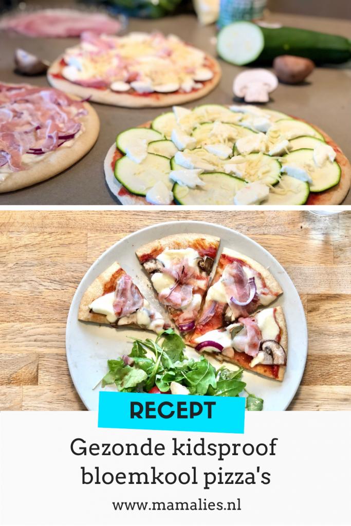 Recept voor gezonde kidsproof bloemkoolpizza